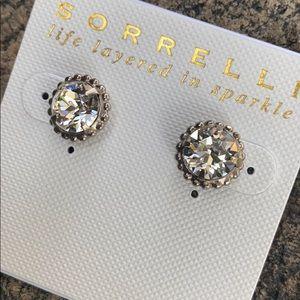 Sorrelli Swarovski Silver Crystal Earrings NEW